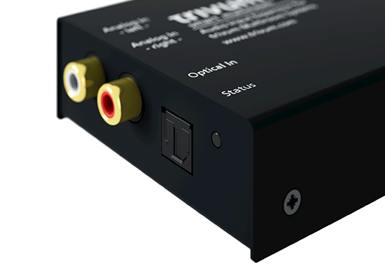 trivum Accessories InStreamer analoger LineIn und optischer Digital-In Eingang (TOSLINK)